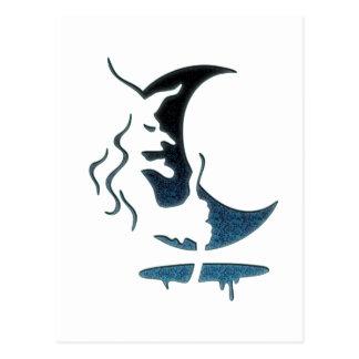 Evil Brewing Witch -Black/Blue Spot Premium Design Postcard