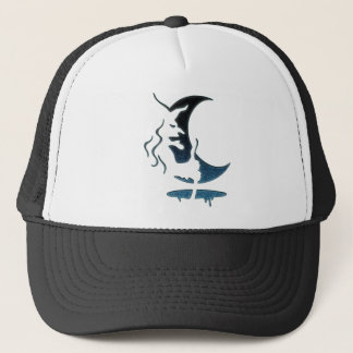 Evil Brewing Witch -Black/Blue Spot Premium Design Trucker Hat