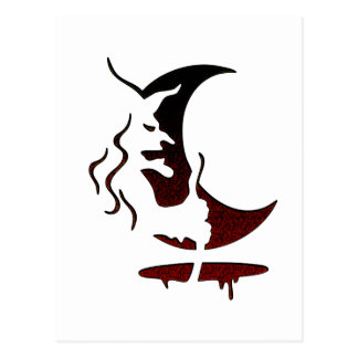 Evil Brewing Witch - Black/Red Spot Premium Design Postcard