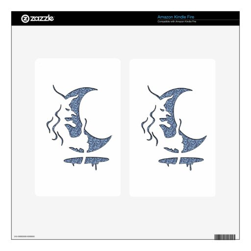 Evil Brewing Witch - Blue Dotted Inversion Design Kindle Fire Decals
