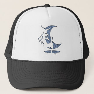Evil Brewing Witch - Blue Dotted Inversion Design Trucker Hat