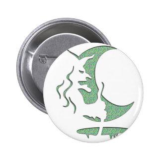 Evil Brewing Witch - Green Spot Invert Design Buttons