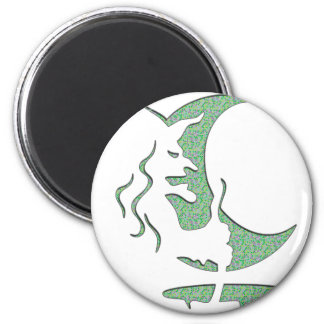 Evil Brewing Witch - Green Spot Invert Design Magnet