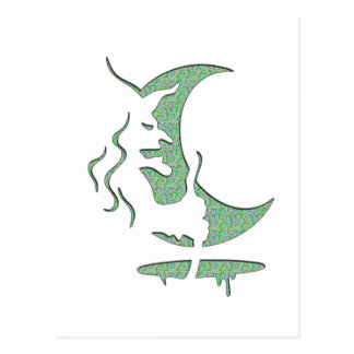 Evil Brewing Witch - Green Spot Invert Design Postcard