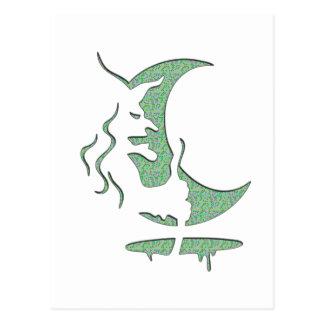 Evil Brewing Witch - Green Spot Invert Design Postcard