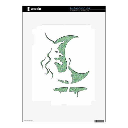 Evil Brewing Witch - Green Spot Invert Design Skin For iPad 2