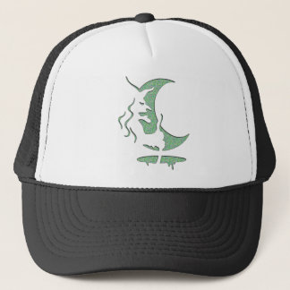 Evil Brewing Witch - Green Spot Invert Design Trucker Hat