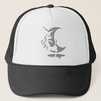 Evil Brewing Witch - Grey Spot Design Trucker Hat