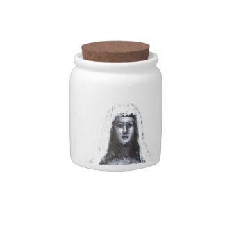 Evil Bride (black and white surreal portrait) Candy Jars