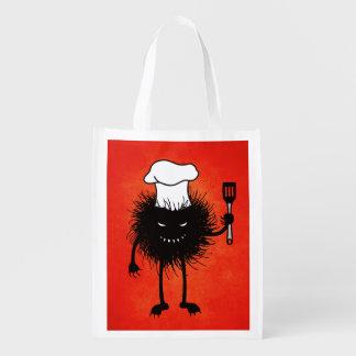 Evil Bug Chef Loves To Cook Orange Grocery Bag
