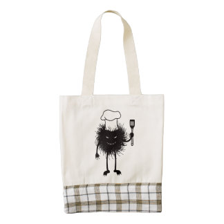 Evil Bug Chef Loves To Cook Zazzle HEART Tote Bag