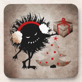 Evil Bug Gives Christmas Present Coaster
