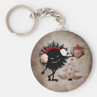 Evil Bug Gives Christmas Present Keychain