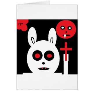 evil bunny card