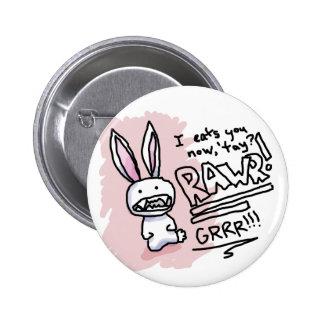 Evil Bunny Chomp Pinback Button