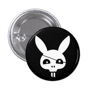 Evil Bunny Pirate Skull Button