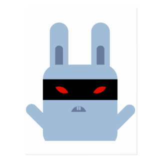 Evil Bunny Postcard