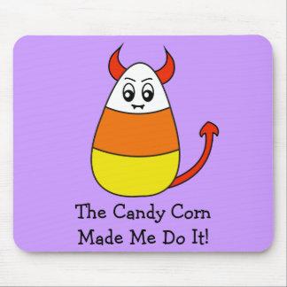 Evil Candy Corn Halloween Mousepad
