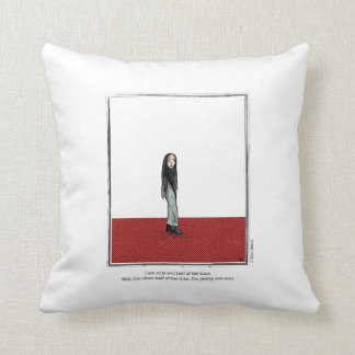 EVIL cartoon by Ellen Elliott Throw Pillow
