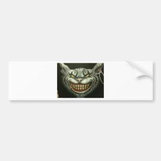 evil cat canvas car bumper sticker