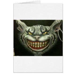 evil cat canvas card