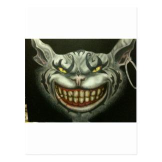 evil cat canvas postcard
