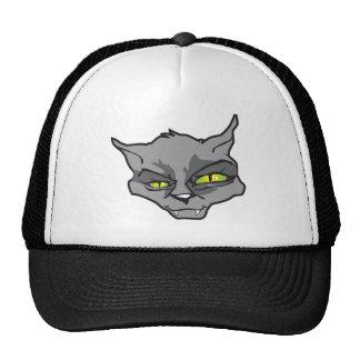 Evil cat trucker hat
