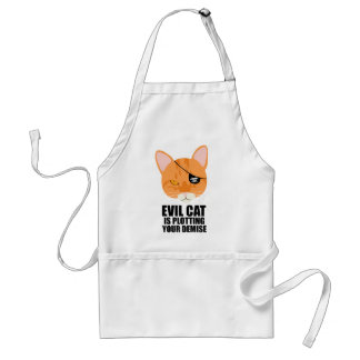Evil Cat is Plotting Your Demise Adult Apron