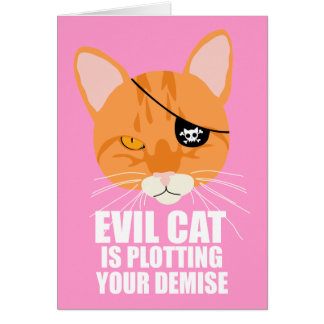 Evil Cat is Plotting Your Demise Card