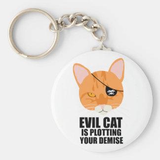 Evil Cat is Plotting Your Demise Keychain