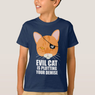 Evil Cat is Plotting Your Demise T-Shirt