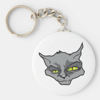 Evil cat keychain