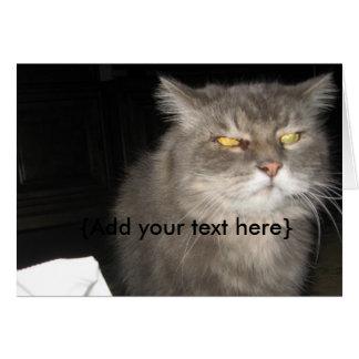 Evil Cat Note Card
