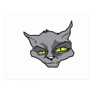 Evil cat postcard