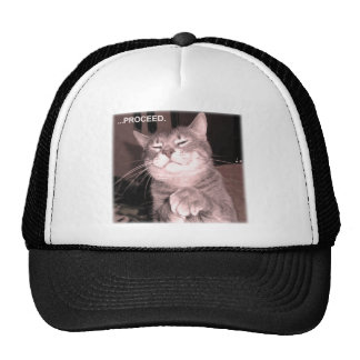 Evil cat says proceed with the master plan trucker hat