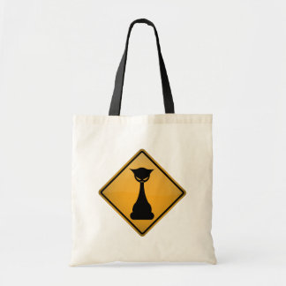 Evil Cat Warning Sign Bags