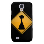 Evil Cat Warning Sign Galaxy S4 Case