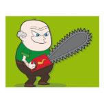 Evil Chainsaw man Post Card