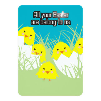 Evil chicks All your Easter are belong to us Card