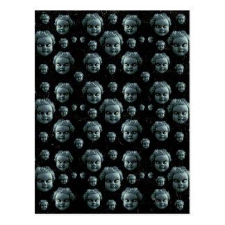 Evil Child Expression Pattern Postcard