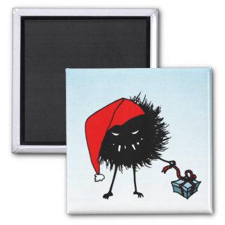 Evil Christmas Bug Opening Present Magnet