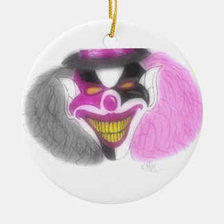 evil christmas Double-Sided ceramic round christmas ornament