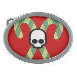 Evil Christmas Oval Belt Buckle