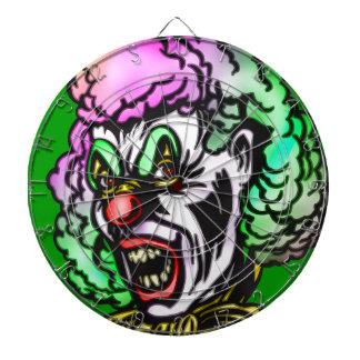 Evil Circus Clown Dartboard