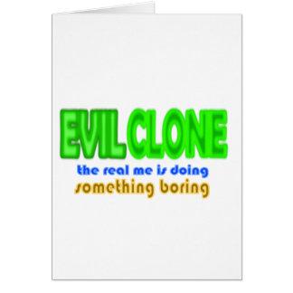 EVIL CLONE Halloween Costume Design Card