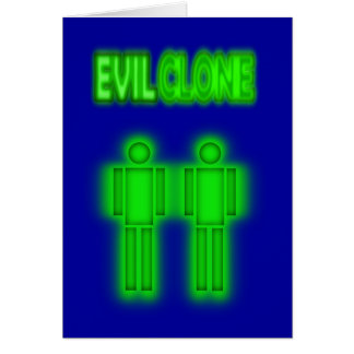 Evil Clone TWO Figures Design Card