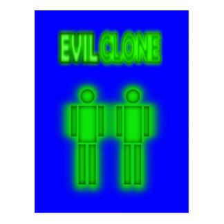 Evil Clone TWO Figures Design Postcard