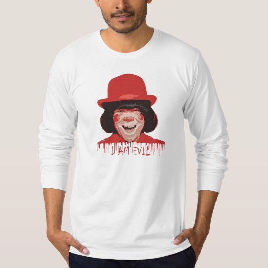 Evil Clown American Apparel Long Sleeve (Fitted) T-Shirt