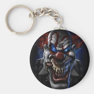 Evil Clown And Cigar Basic Round Button Keychain