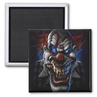 Evil Clown And Cigar Fridge Magnet